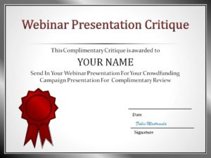 Webinar Certificate Critique